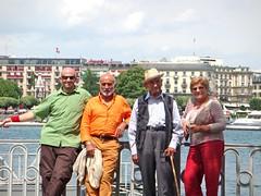 Nonno Vito, Andrea, Franco, Elisa Fabellini a Geneve