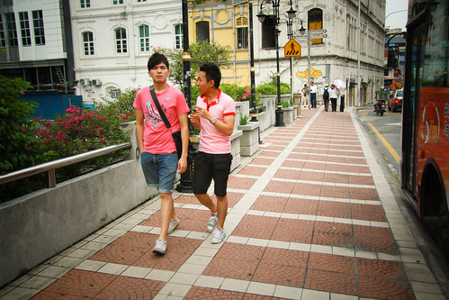 Two Guys in Pink T-Shirts