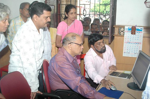 Launching of e-granthalay (library) in Margao by you.