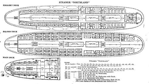 Steamer Northland Deck Plans