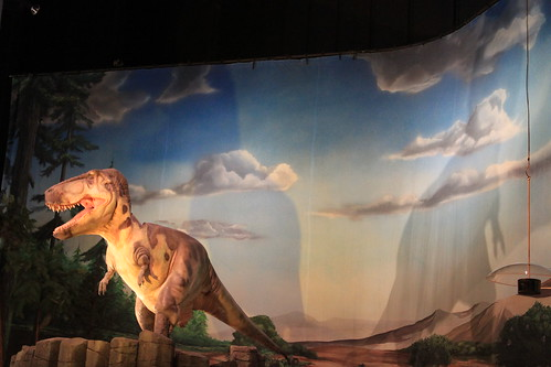 Seattle - Pacific Science Center - T-rex and Shadow