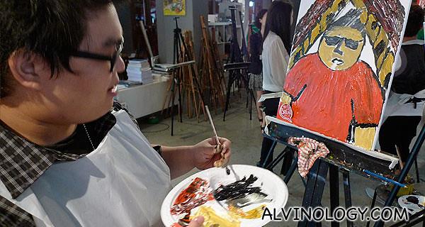 Yong Wei painting himself as Eric Cartman