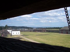 View of Fort Vancouver from the bastion.