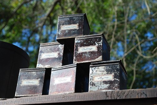 the estate of things chooses antique metal spice boxes