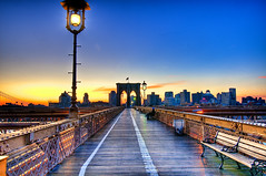 Sunrise at the Brooklyn Bridge
