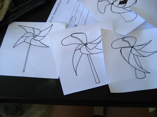 Outlining the paper windmills