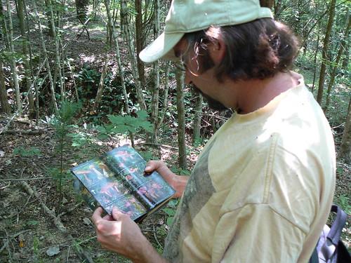 Sinking Creek Mountain - Tony Looking up Mushrooms