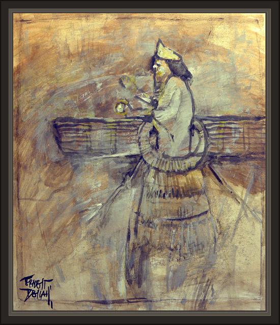 ANNUNAKI-ANNUNAKIS-ANUNNAKI-SUMERIAN- FLYING GODS-NEPHILIM-ERNEST DESCALS-PAINTINGS-