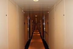 Never ending Corridor onboard Queen Mary 2