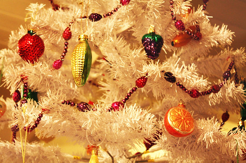 Fruit and Veggie Christmas Tree