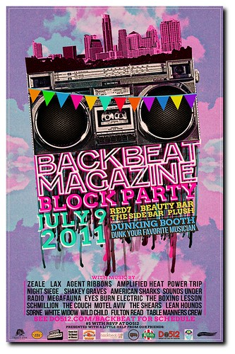 Gigposter for Backbeat Magazine Summer Block Party