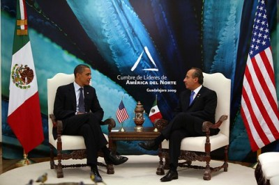 Obama and Calderón had a bilateral meeting on Sunday in Guadalajara. (Photo: Alfredo Guerrero/Mexican Presidency)