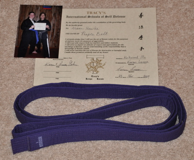 Purple Belt!