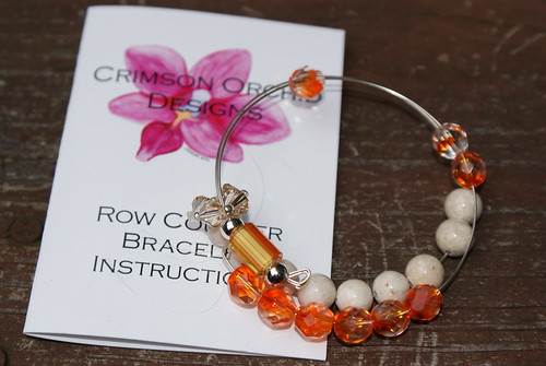 Crimson Orchid Designs row counter bracelet