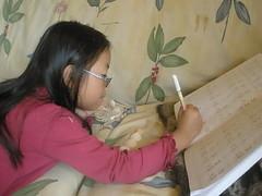 Olivia Doing Math with Shells