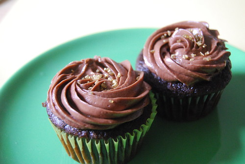Chocolate Ginger Orange Cupcakes with Chocolate Orange Icing