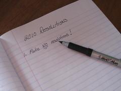 No Resolutions 2010