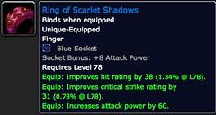 Ring of Scarlet Shadows - Item - World of Warcraft