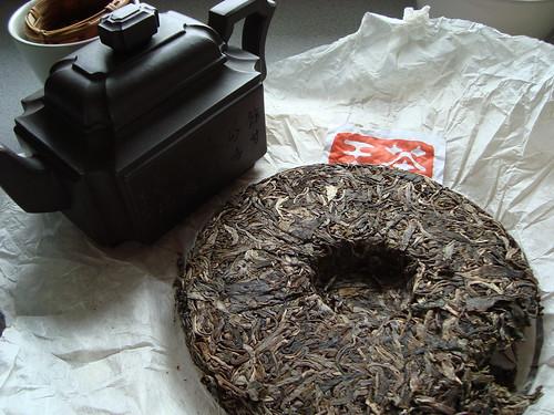 Brique compressée de thé Pu erh
