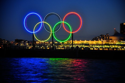 2010 Olympic Rings in Coal Harbour