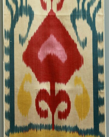 silk ikat fabric cocoon tribal chase