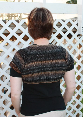 the back - I did a couple of extra rows of ribbing at the bottom