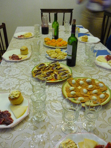 Spanish Xmas day tapas