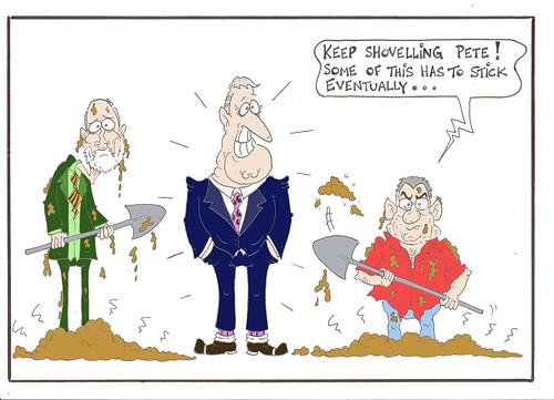 Flinging Poo, a cartoon by John Black