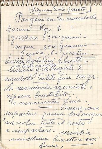 Dal quaderno di nonna Maria Parigini con la mandorla  Anice e Cannella