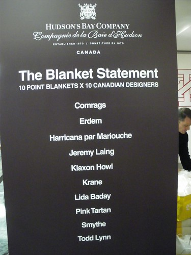 The Blanket Statement by The Bay
