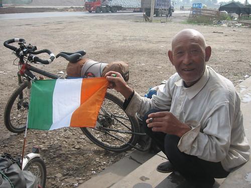Chinese Flag Bearer
