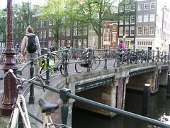 Paul on a bridge, Amsterdam, June 2009.