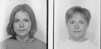 1996... förra gången med kort hår, före och efter... inte så lyckat