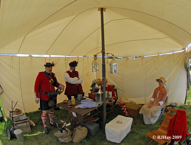 British Encampment - Ready for Battle - Plains of Abraham Re-Enactment, Founders Day 2009, Ogdensburg, New York