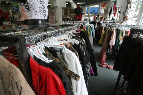 Thriftshops, like this Goodwill on Haight, allow students to be fashionable, save money, and even contribute to worthy causes.  Photo by Melissa Stihl/Foghorn
