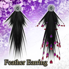 Feather Earring (Orchid)