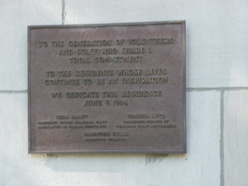 Front Entrance Plaque