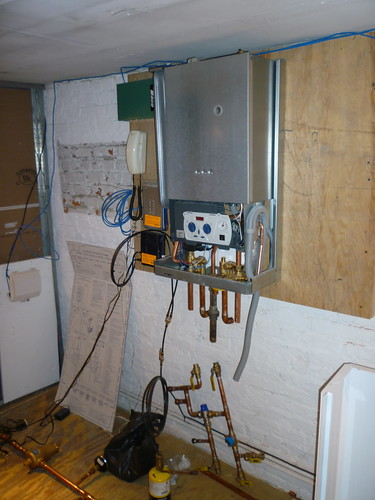 Our Spiffy new 100,000 BTU Boiler/Hot Water Heater
