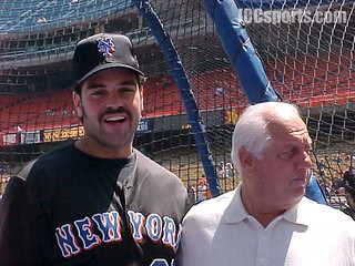 Mike Piazza and Tommy Lasorda