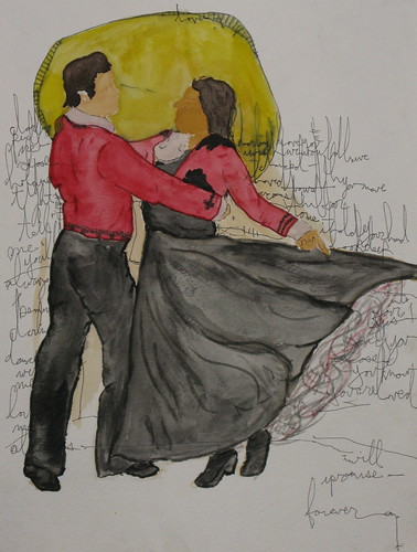 dance with me painting by tj schneider
