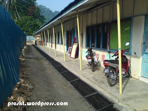 Bahagian belakang Blok Pejabat