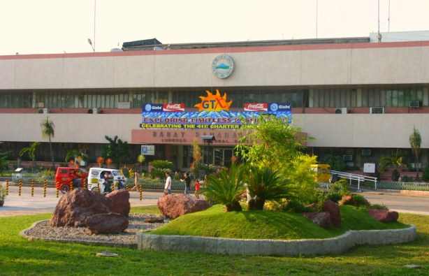 Another Rock Garden here.  The GenSan City Hall at the background.