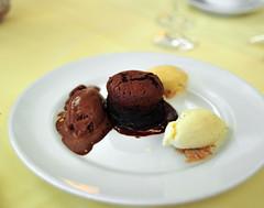 Dessert: Hot Valhrona Chocolate Soufflé