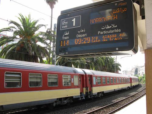 Meknes - awaiting the Marrakech Express