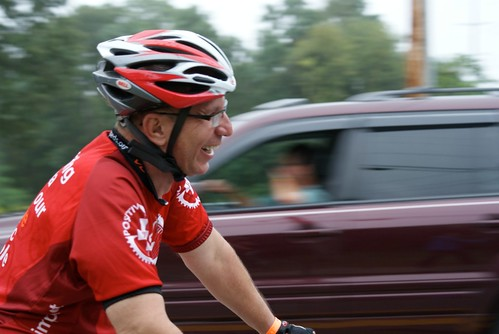 One of many inspirations along the ride:  Will, a Positive Peddlar from Chicago.