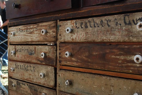 the estate of things chooses antique wooden tool box