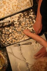 Mama and Bean making Gnocchi