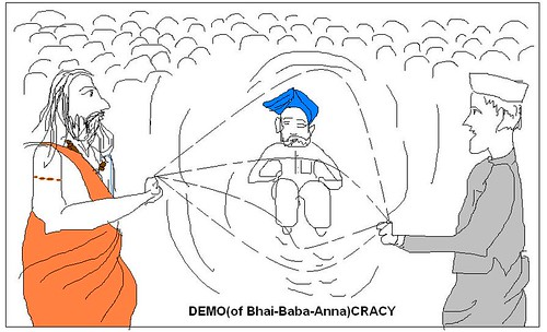 Demo(of bhai-baba-Anna)Cracy by Vasu..