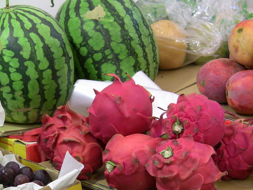 Dragon Fruit and Watermelon