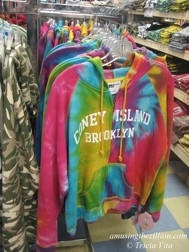 Psychedelic hoodie at Coney Island Beach Shop. Open year round! Photo © Tricia Vita/me-myself-i via flickr